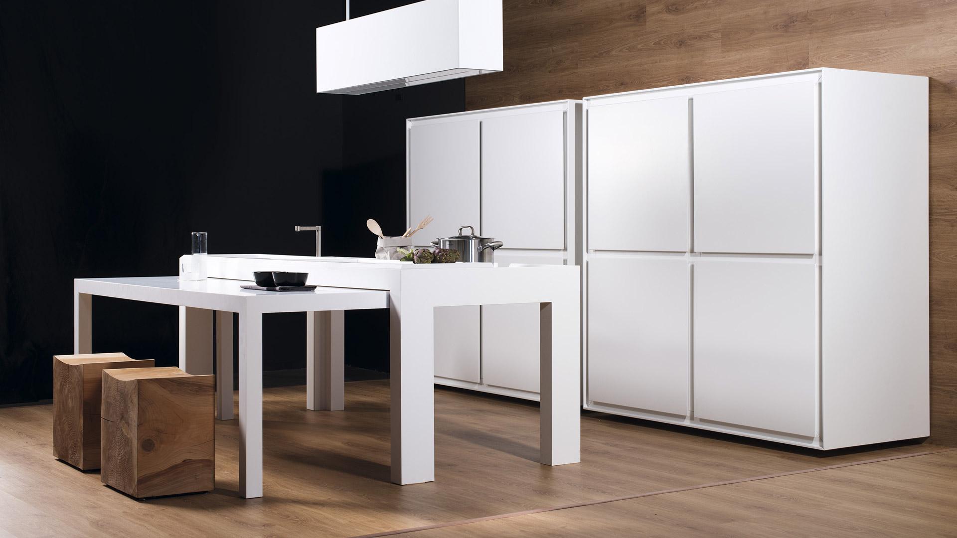Off kitchen cucina a scomparsa freestanding per ufficio - Cucina con tavolo a scomparsa ...