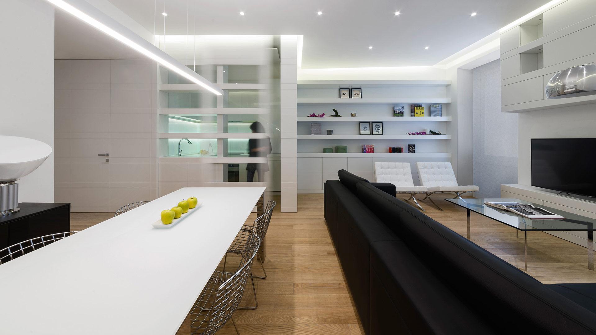 Progetto Contract Interior Design appartamento privato Roma
