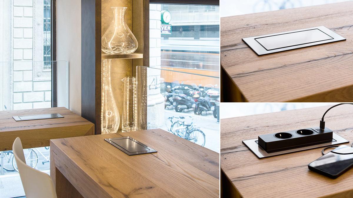 Tm Italia - Love IT Flagship Store Piano terra dettaglio bancone soppalco