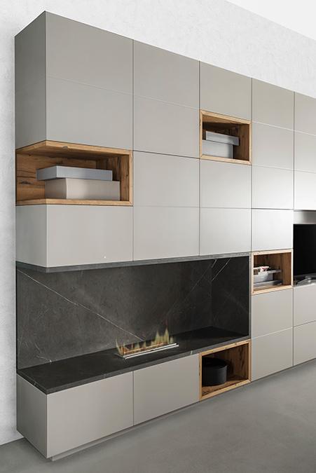 Cucina e living soluzioni su misura per arredare l 39 open space - Cucina parete attrezzata ...