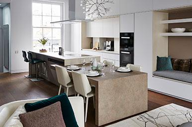 Cucina con isola e tavolo estraibile integrata nell 39 area living - Cucine con tavolo estraibile ...