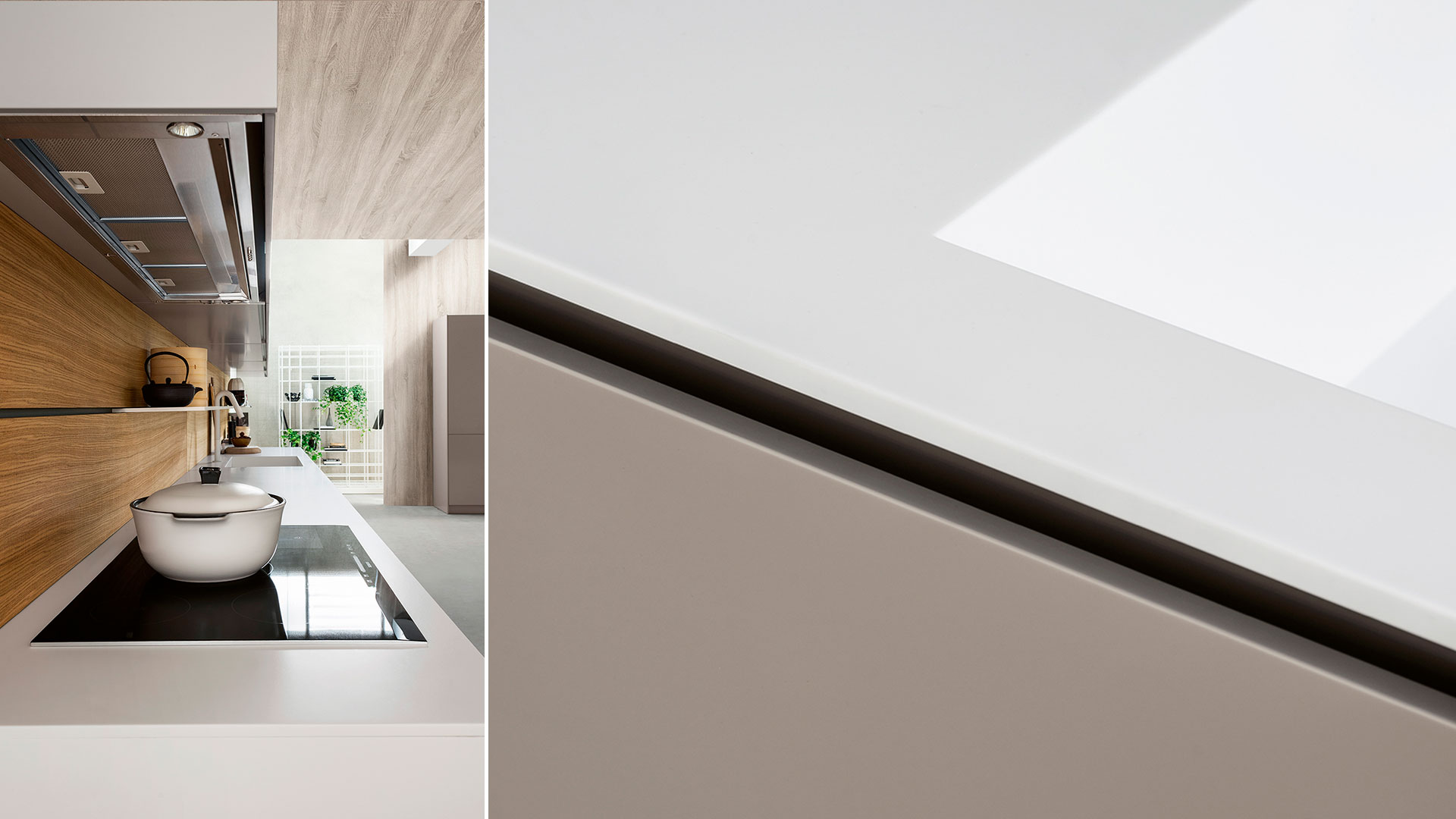 Cucina moderna freestanding in corian K6 | Collezioni Cucine 2018 TM Italia - TM_CAT_K6_003