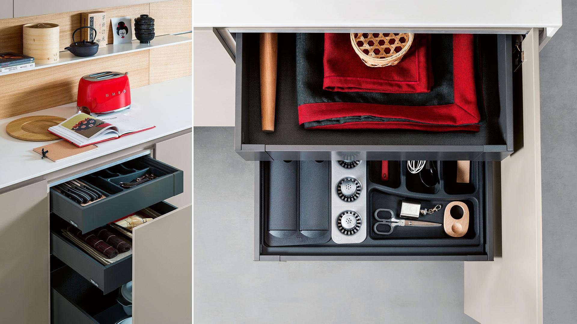 Cucina moderna freestanding in corian K6 | Collezioni Cucine 2018 TM Italia - TM_CAT_K6_004