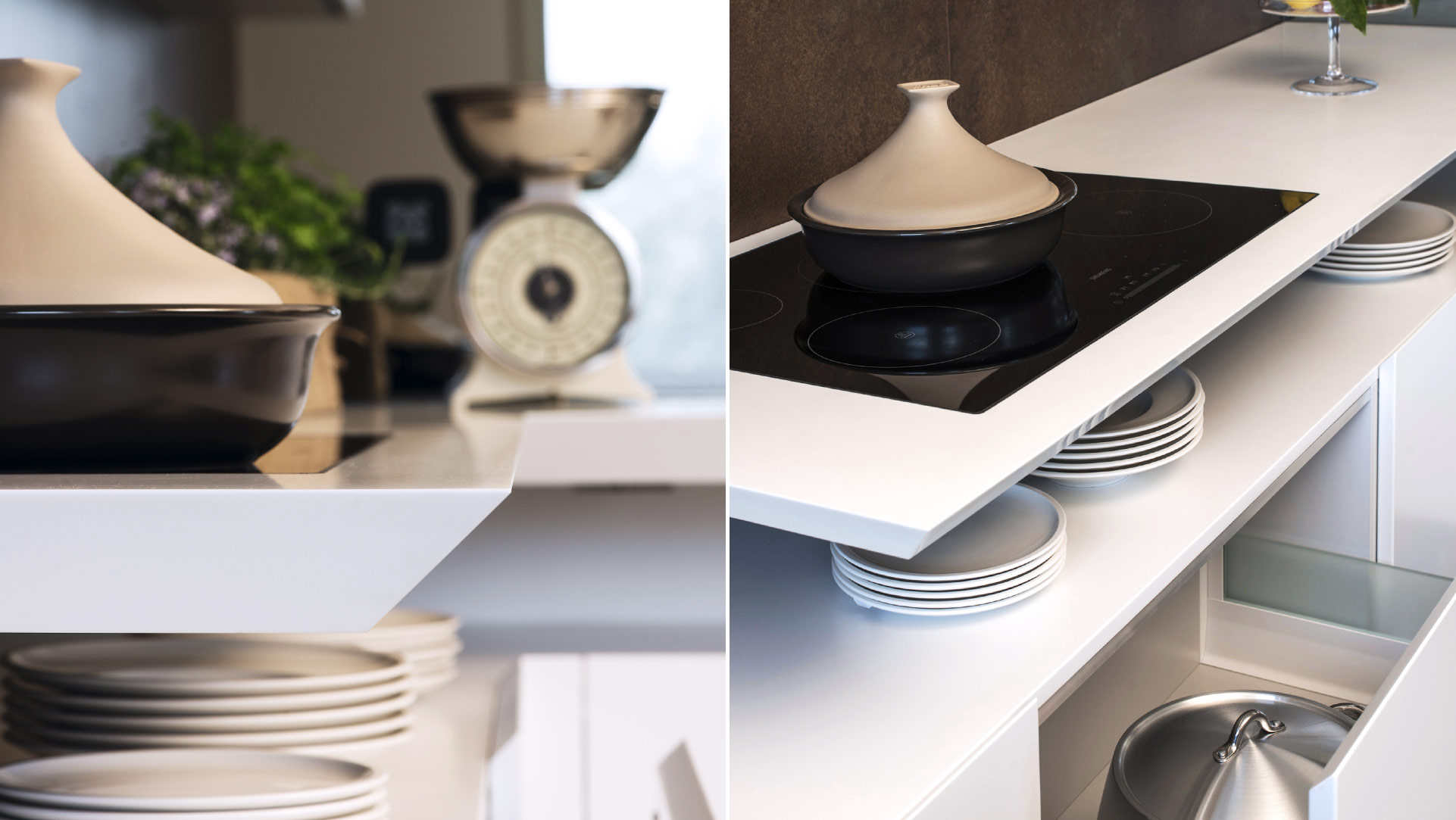 Cucina living sospesa open space