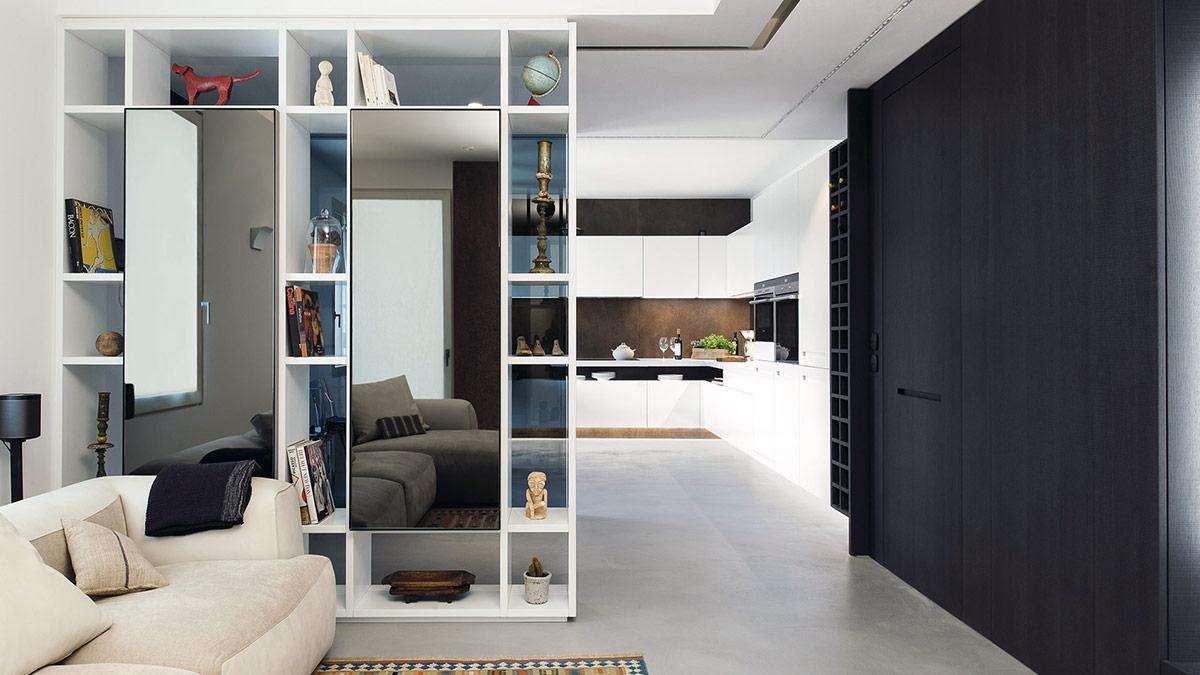 Cucina e living soluzioni su misura per arredare l 39 open space - Soluzioni immobiliari roma ...