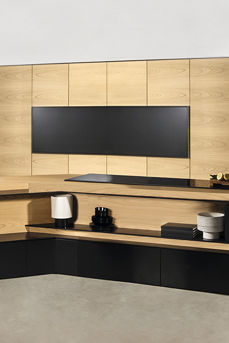 Cucina e Living: soluzioni su misura per arredare l'open space - FXcarbon-dettaglio-forno-chiuso