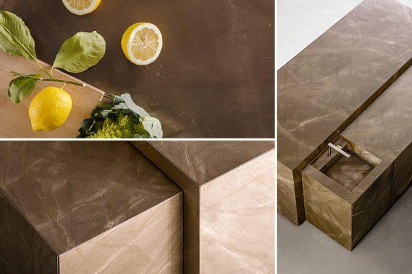 TM Italia produce la prima cucina in marmo con trattamento AzeroCare