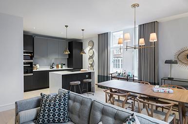 Interior: progetto contract per un esclusivo multiapartment a Londra